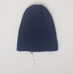 Anthropologie Classic Navy Beanie